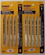 "DEWALT DW3705-5 4"" x 8 TPI Cobalt Steel U-Shank Jig Saw Blades 2-5 PKS USA - $7.92"
