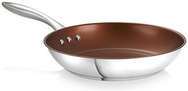 Ozeri 8Inch Stainless Steel Pan with ETERNA a PFOA and APEOFree NonStick - $42.42