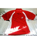 WISCONSIN BADGERS American Classic Sportswear Polo Shirt Size Large-Go B... - $22.95