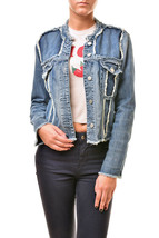J Brand Womens Toni Fray Classic Mini Denim Jacket Blue Size S RRP $267 ... - $264.33