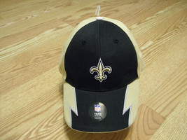 NEW ORLEANS SAINTS NFL APPAREL YOUTH BLACK & GOLD CAP W/ADJUSTABLE STRAP... - $11.87