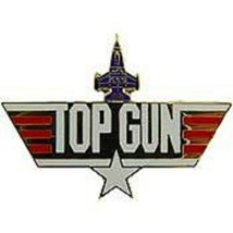 United States Navy Fighter Weapons School TOPGUN LOGO Pin Large - $7.91