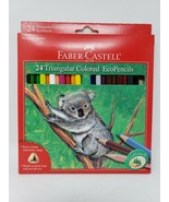 Faber-Castell 24n Triangular Colored EcoPencils - New - $16.99