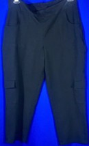 Women With Control Pull On Cargo Pants Black Size 14 With Pockets On The... - $17.45