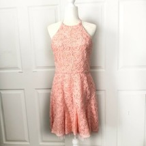 BCBG PINK SOUTACHE LACE BACKLESS MINI COCKTAIL PARTY DRESS SIZE 12 - $59.40