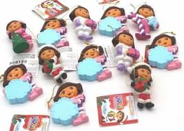 Lot of 12 Kurt Adler Nickelodeon Dora The Explorer Christmas Tree Ornaments - $43.20