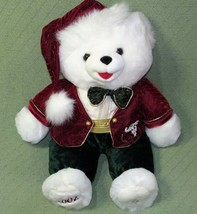 "2002 SNOWFLAKE TEDDY Dan Dee Christmas Plush Stuffed 21"" Red Green Cuddl... - $23.38"