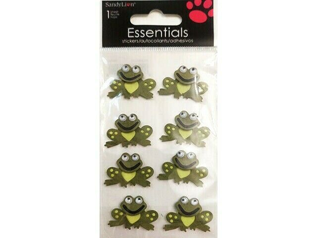 Sandy Lion Frog with Googly Eyes Sticker Set #PSCBHMCLE2
