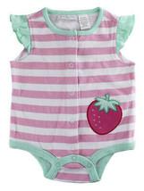 First Impressions Baby Girls Stripe & Strawberry Creeper Bodysuit, 0-3 M... - $10.00