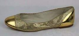 Michael Kors Shala women's ballet leather upper ballerina gold flat size... - $28.99