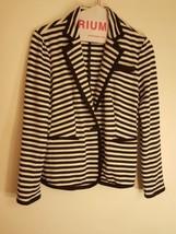 Calvin Klein woman's Black White Size Small Striped Jacket  - $12.99