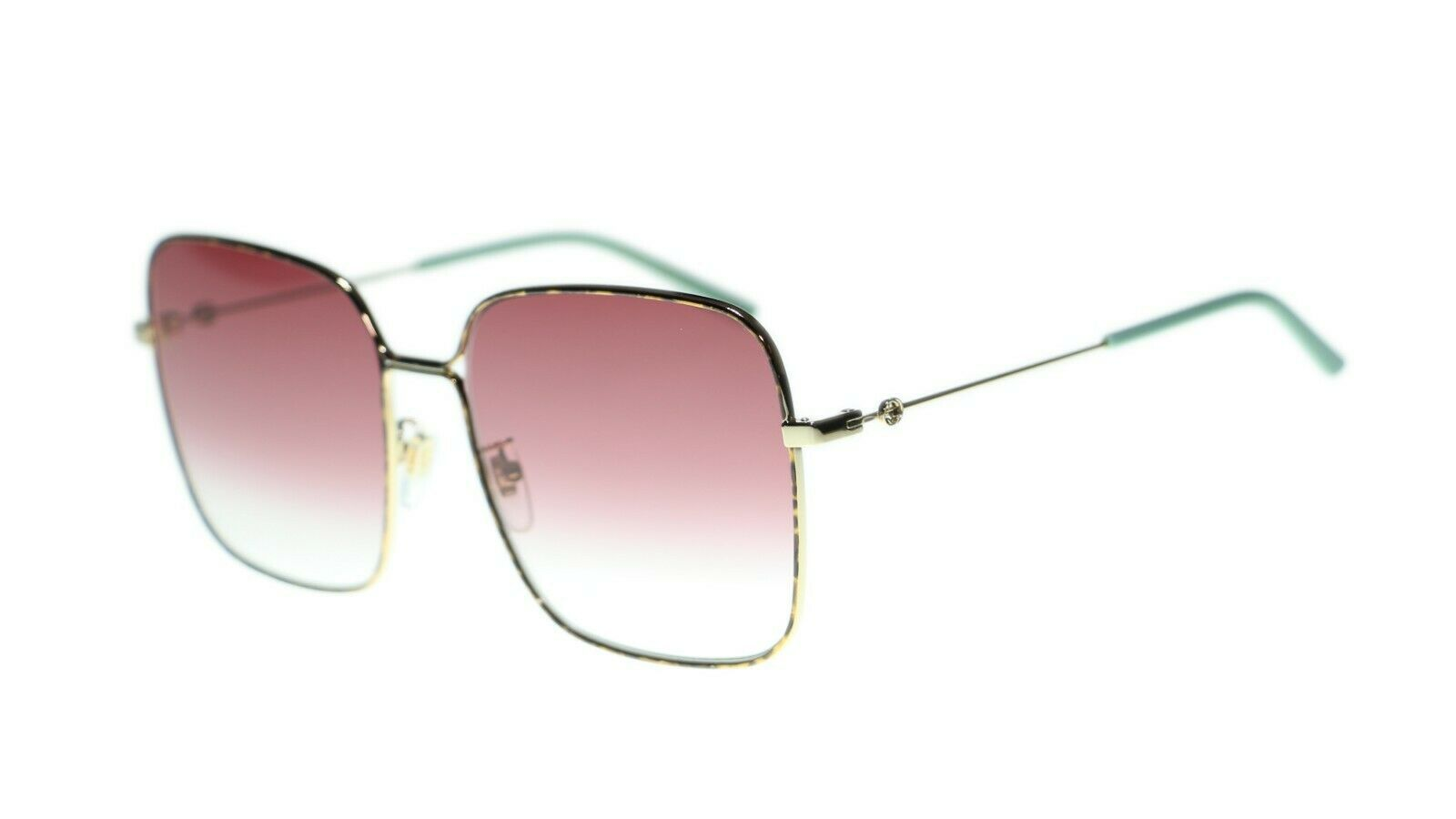 92aa1e31d64 New Gucci Women s GG0443S 003 Oversized Square Gradient Lens Sunglasses -   270.63