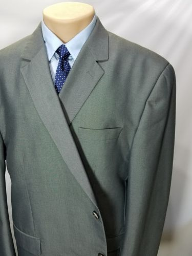 ANDREW FEZZA SIGNATURE COLLECTION MEN'S SPORT COAT GRAY POLYESTER  2 BUTTONS 52R