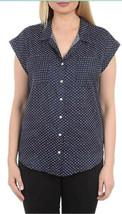 Jachs Women's Cap Sleeve Button Down Shirt - Short Sleeve Printed Blouse - $14.99
