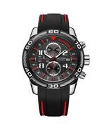 MEGIR 2045G Chronograph Date Display Quartz Watches Silicone Strap Men W... - $43.65