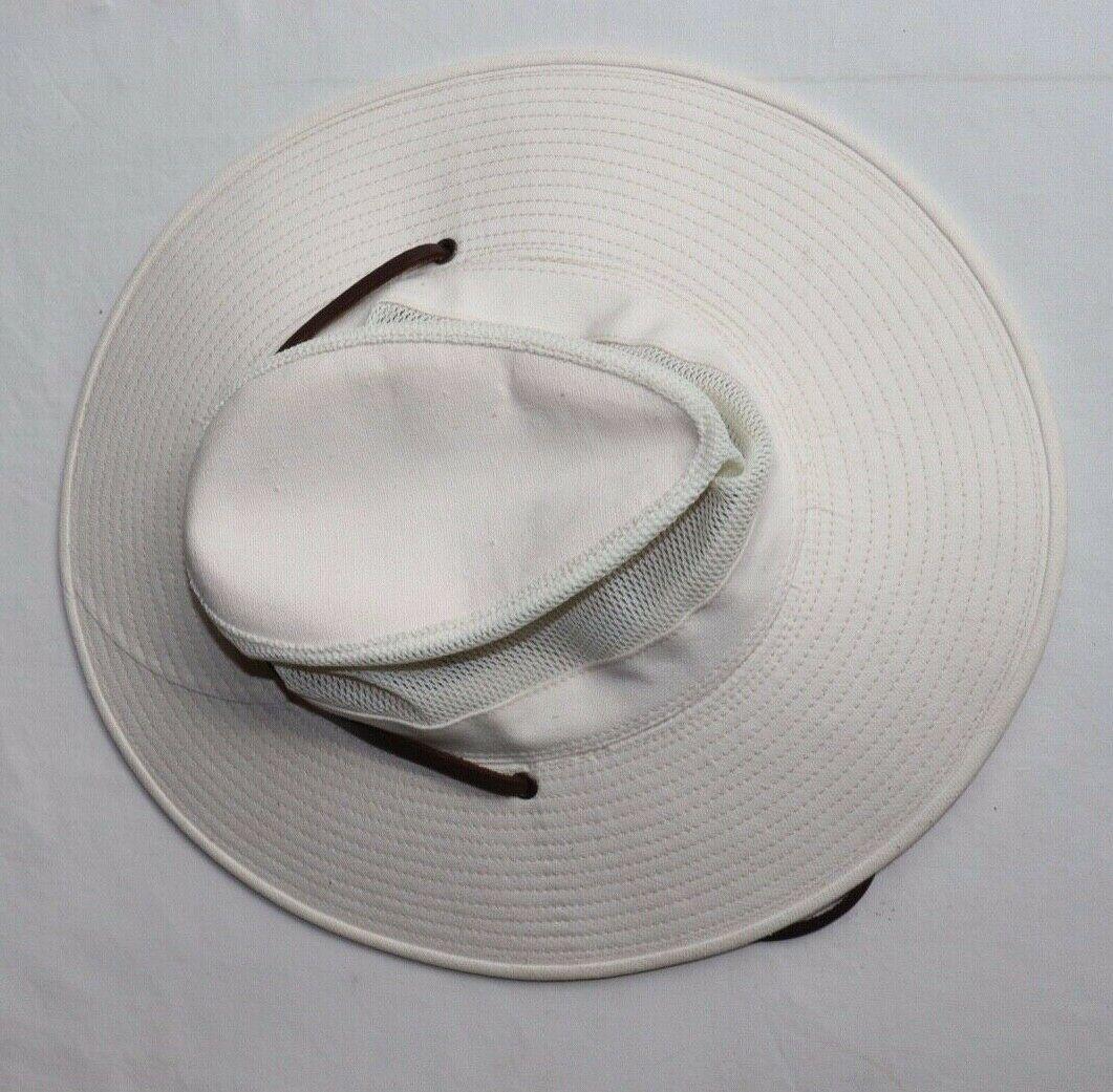 Dorfman Pacific Mesh Breezer OUTBACK HAT Light Tan Medium w/Leather strap