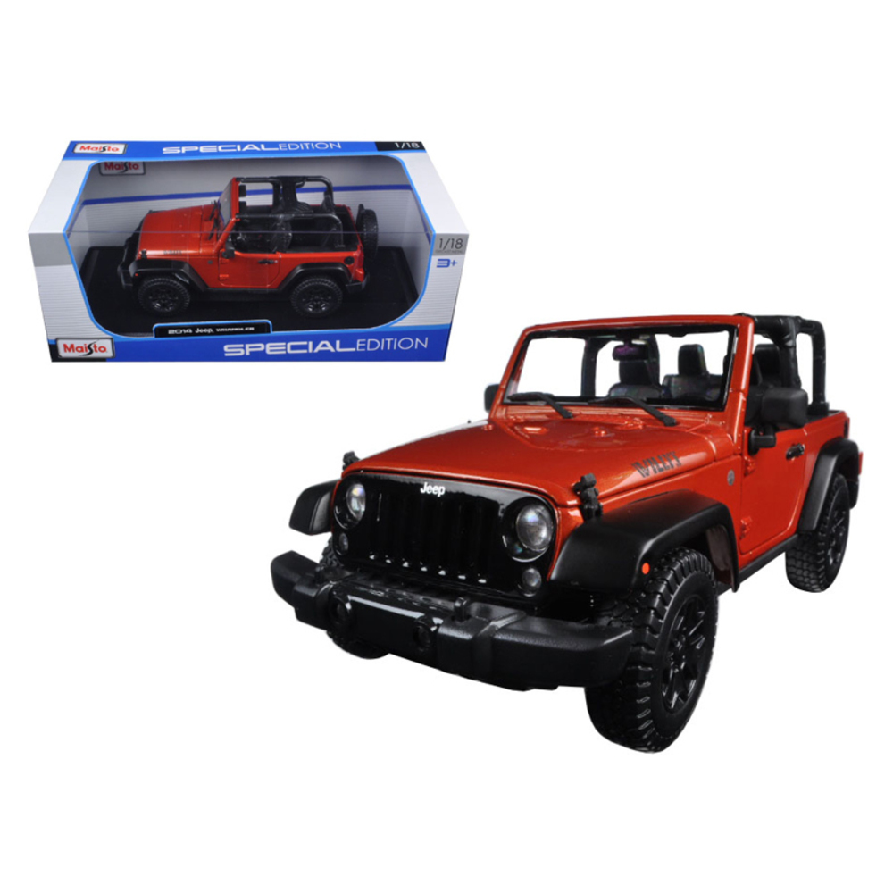 2014 Jeep Wrangler Willys Copper 1/18 Diecast Model Car by Maisto 31610cop