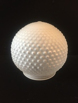 Vintage Art Deco frosted glass hobnail ceiling bulb fixture cover