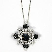 Silver 925 Necklace, Chain Venetian, Pendant Pendant Snowflake, Zircon image 2