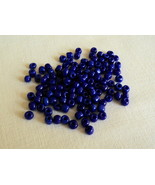 """One Package of 140 Craft Cobalt Blue Acrylic 1/8""""x1/8"""" Tube Beads-Free S... - $3.75"""