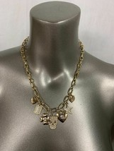 """Guess Charm Gold Color Necklace 17"""" + 2"""" New 412623Y-43 - $8.90"""
