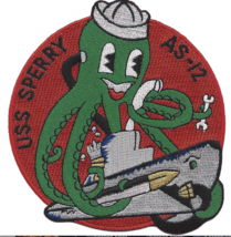 "4.5"" USS SPERRY AS-12 SUBMARINE NAVY EMBROIDERED PATCH - $17.09"