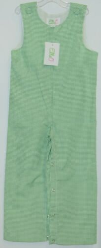 Ellie O Gingham Full Lined Longall Size 2 Color Green Cotton Polyester Blend