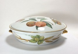 Royal Worcester Evesham Gold Covered Casserole Serving Dish Shape 22 Size 4 - $29.68