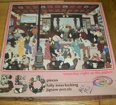 Vintage Jigsaw Puzzle Folk Art 550 Pcs Saturday Night Dance Hall Palace ... - $16.82