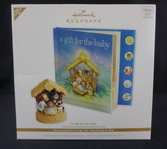 Hallmark A Gift For Baby Nativity Story Book and Ornament Set Magic Inte... - $35.59