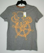 BODEN Boy's 13-14y Octopus Neon Orange Short Sleeve SS Shirt NEW - $19.99