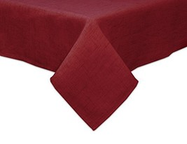 "Bardwil Linens Brussels 52""x70"" Oblong Tablecloth, Scarlet - $26.08"
