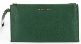 Michael Kors Bedford moosgrün Leder Clutch Handgelenk Tasche - $100.86