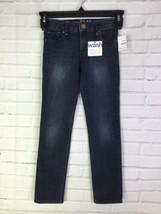Gap Kids Girls Size 6 Slim 1969 Super Skinny Jeans Dark Blue Adjustable Waist - $17.41