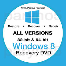 WINDOWS 8 ENTERPRISE 32 Recovery Install Reinstall Boot Restore DVD Disc... - $5.99