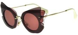 Miu Miu Over Lapping Game MU02SS VA50A0 63MM Dark Brown / Pink Sunglasses - $184.63