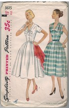 3615 Simplicity Sewing Pattern Misses 1950 Fitted Dress Full Skirt Rocka... - $24.74