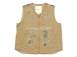 Denim Supply Ralph Lauren Mens L Distressed Khaki/ Green Army Woodland C... - $47.02