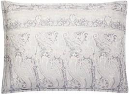 Ralph Lauren Standard Pillow Sham Mariella Paisley Cotton Grey MSRP $ 13... - $49.49