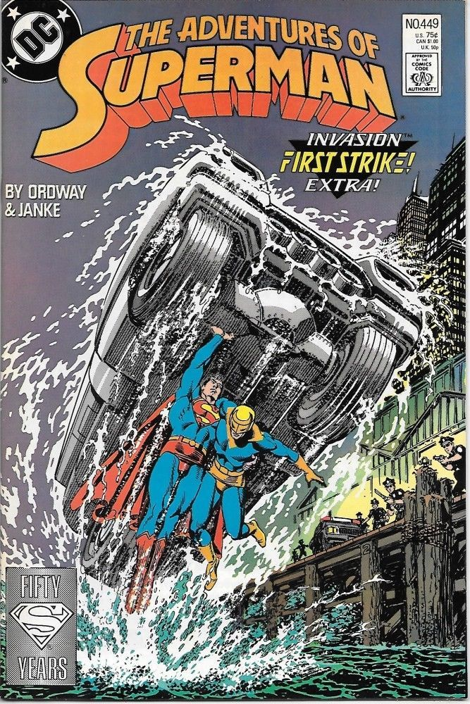 Primary image for The Adventures of Superman Comic Book #449 DC Comics 1988 VERY FINE+ UNREAD