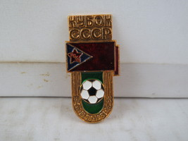Vintage Soviet Soccer Pin -CSKA Moscow Top League Champions - Stamped Pin - $19.00