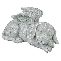 Dog Memorial Statue Pet Grave Marker Angel Wings Puppy Headstone Garden ... - $35.99