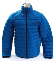 Spyder Prymo Down Jacket Blue Zip Front Down Filled Puffer Jacket Men's NEW - $149.99