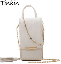 Mini Women Metal Chain Crossbody Bag Long Female Tassels Design Wallet C... - $38.95