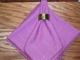 Set Of 10 Fuschia Cloth Napkins 17 x17 - $14.99