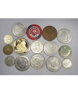 15 Vintage Gambling Casino Tokens All Different C2294 - $22.55