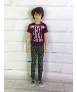 2012 Mattel Barbie Fashionistas Ken Doll Brunette Rooted Hair Blue Eyes ... - $54.45