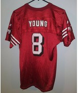 VTG Logo Athletic NFL San Francisco 49ers Steve Young Youth Red Jersey L... - $34.64