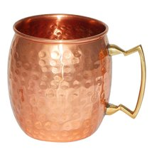 Rastogi Handicrafts Hammered Copper Moscow Mule Mug Handmade of 100% Pur... - $11.88