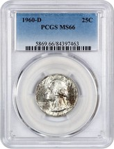 1960-D 25c PCGS MS66 - Washington Quarter - $58.20